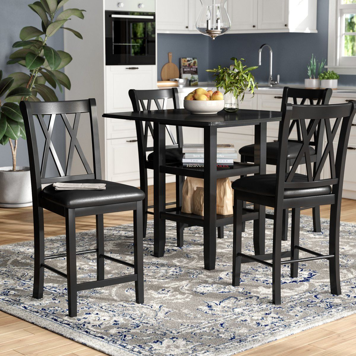 Darby Home Co Kathie 5 Piece Counter Height Dining Set Reviews Wayfair Dining Room Sets Solid Wood Table Tops Counter Height Dining Sets
