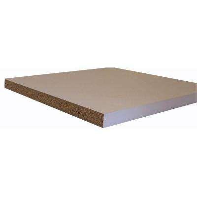 Melamine White Shelf Board Common 3 4 In X 15 3 4 In X 8 Ft Actual 0 75 In X 15 75 In X 97 In Estanterias Metalicas Estanteria Hogar
