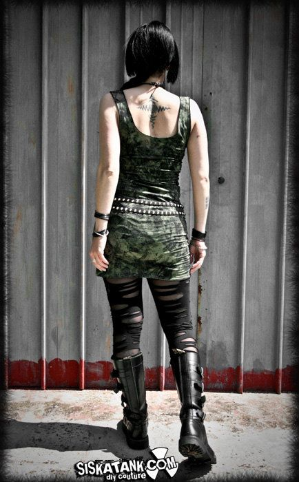 LONG WET LOOK BLACK LONG VEST  TOP MINI DRESS GOTHIC ALTERNATIVE