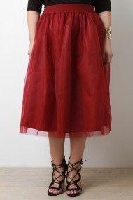 Mesh+A-Line+Midi+Skirt+|+UrbanOG