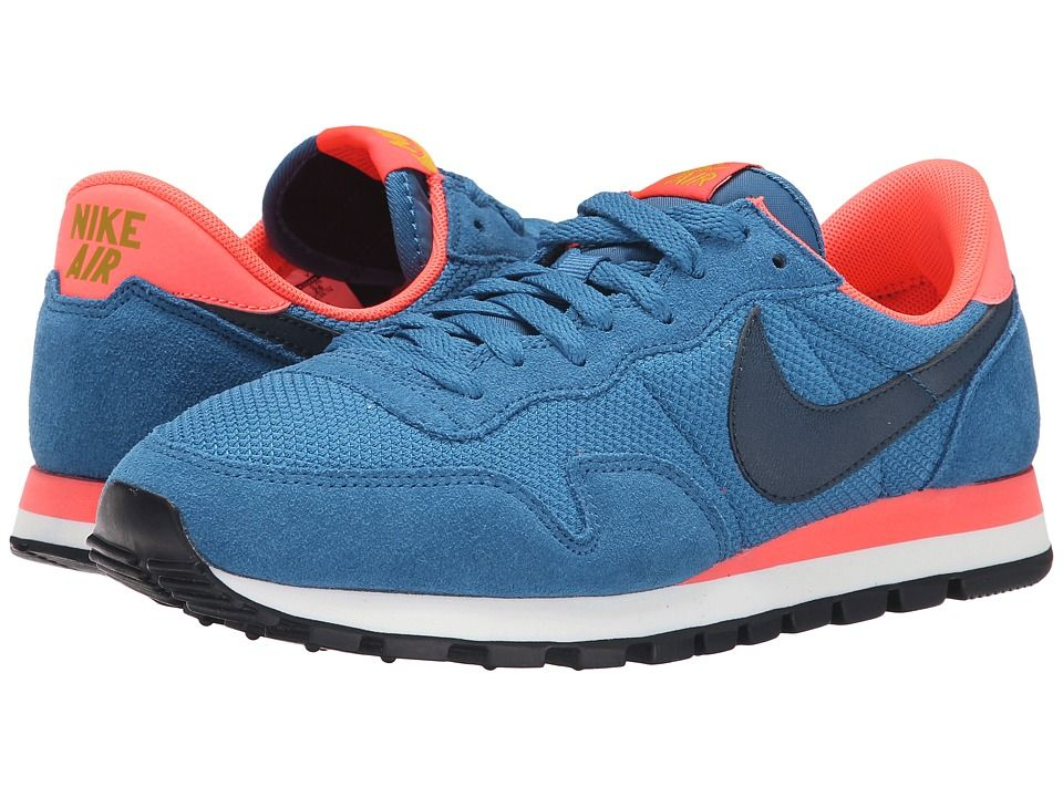 Womens Shoes Nike Air Pegasus '83 Brigade Blue/Hot Lava/Dark Citron/Squadron Blue