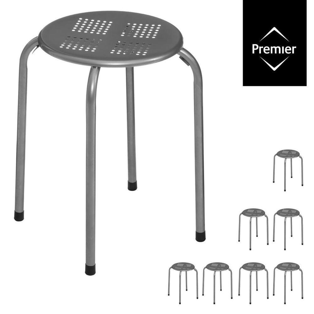 Magnificent Details About Stacking Stool Metal Grey Home Bar Kitchen Uwap Interior Chair Design Uwaporg
