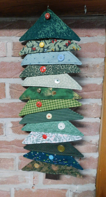 Christmas Tree Wall Hanging Fabric Christmas Tree Whimsical Christmas Decoration Whimsical Christmas Decor Fabric Christmas Trees Hanging Fabric