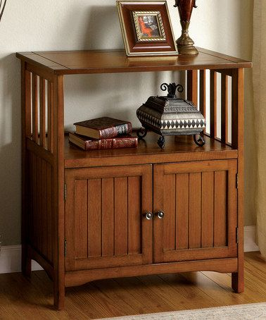 Another Great Find On Zulily Antique Oak Columbus Mission Stand Zulilyfinds Furniture Furniture Of America Cabinets For Sale