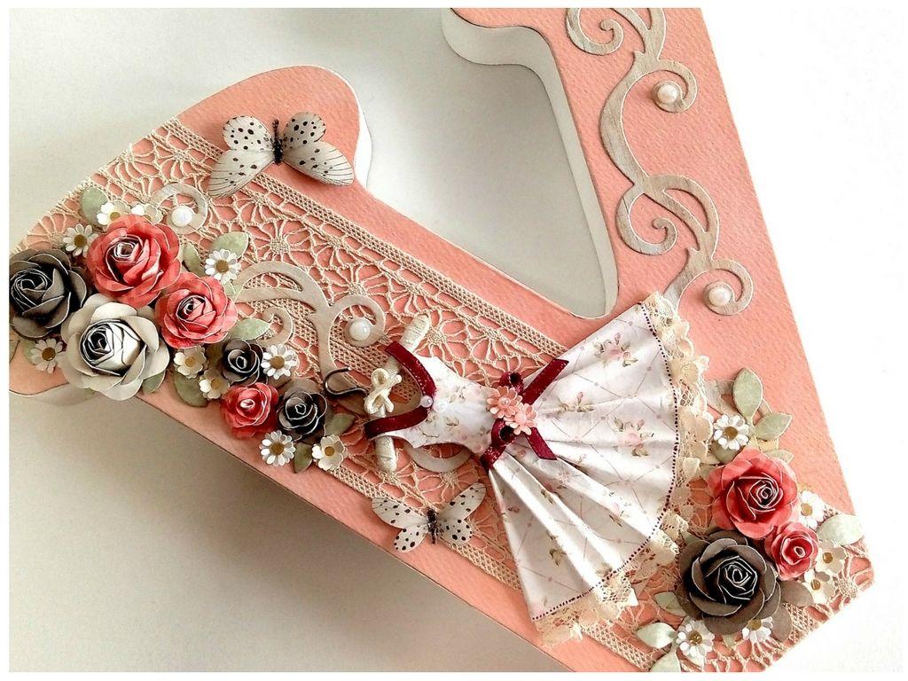 letra de madera decorada scrapbooking | letras adorno ...