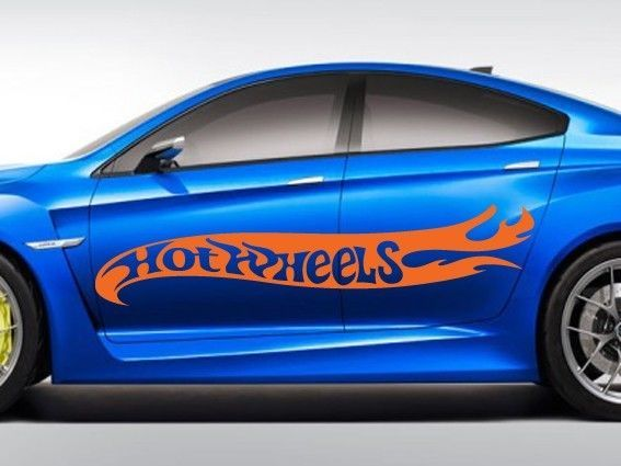 Details About Large Hot Rod Hot Wheels Flames Car Body Vinyl - Vinyl decals for car body