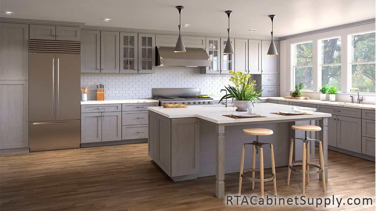 Best Ash Shaker Rta Kitchen Cabinet Sets Light Grey Kitchen 400 x 300