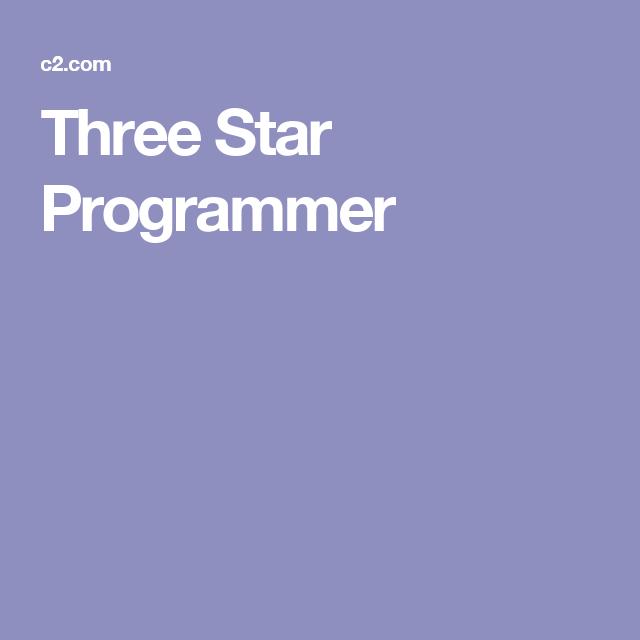 Three Star Programmer Three Star Programmer Stars