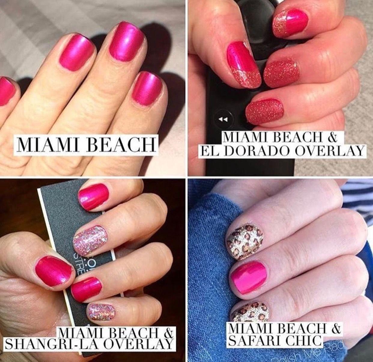 Color street nail polish strips miami beach color street