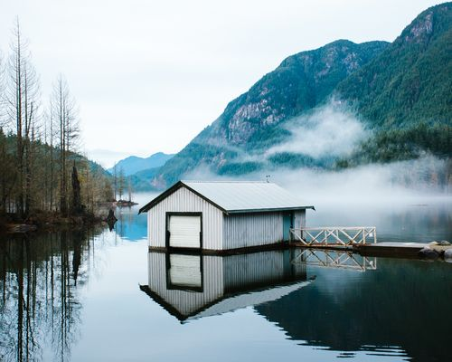 Cabin on the lake, Norway