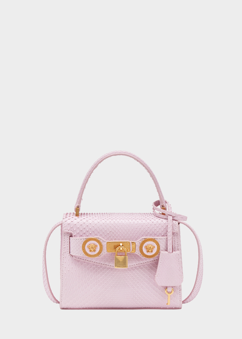 a46baef486 Small Icon Python Leather Handbag - Versace Top Handle | Things I'll ...