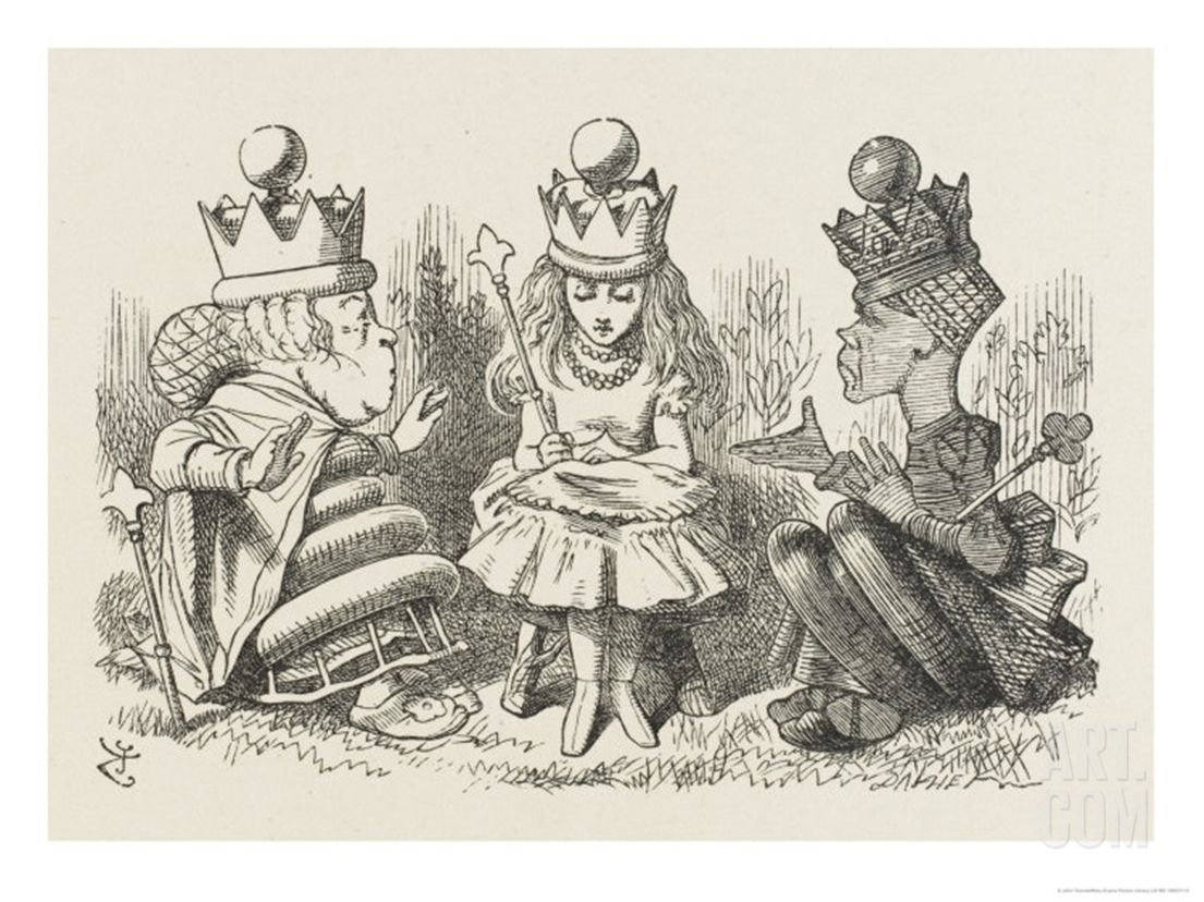 Alice With The Two Queens Alice In Wonderland Illustrations