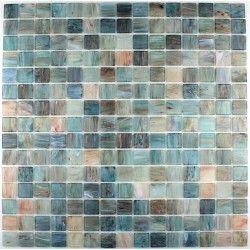 Mosaique Pate De Verre Goldline Turquoise Carrelage Mosaique