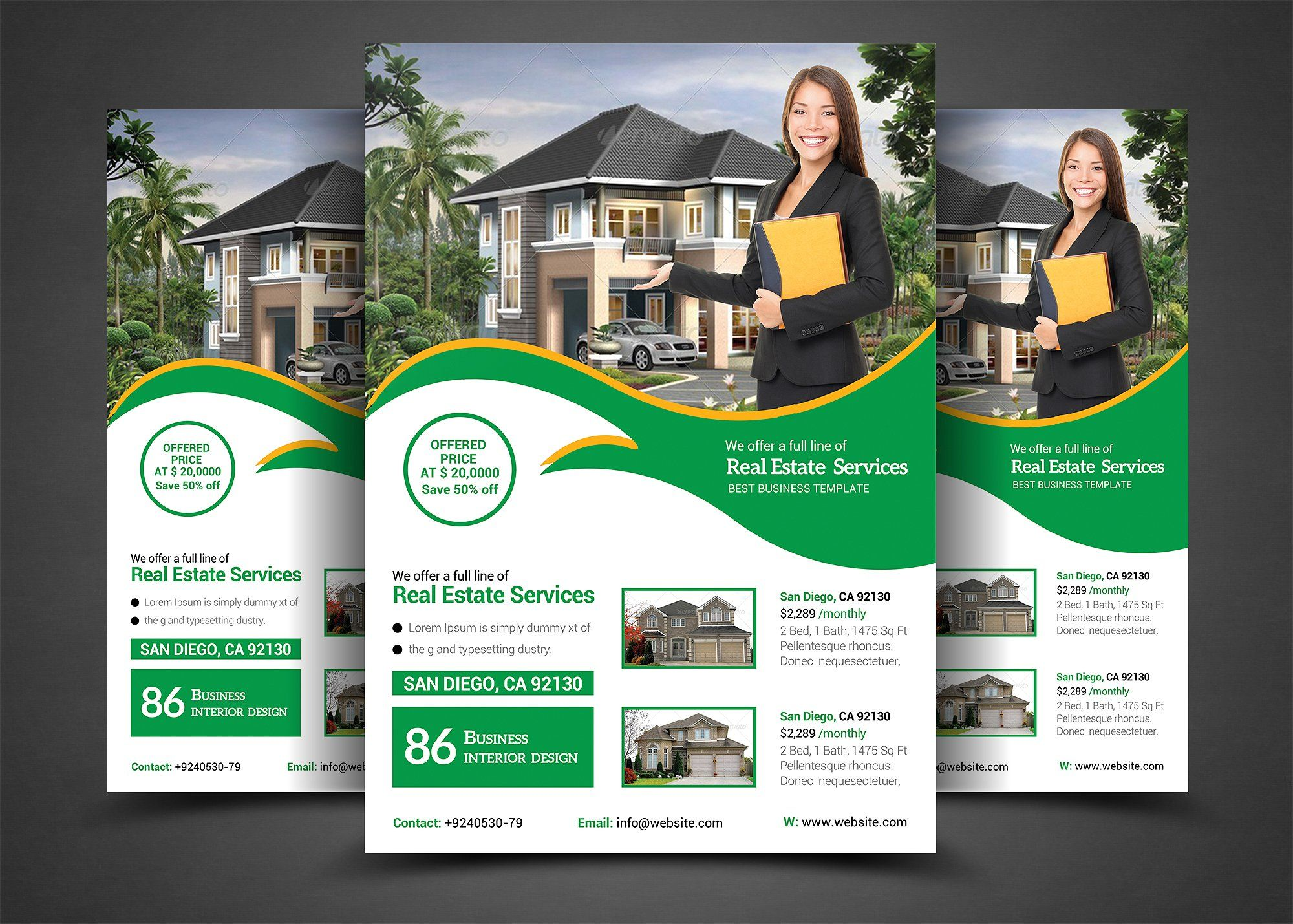 Real estate flyer template real estate flyers and real for Real estate home ideas