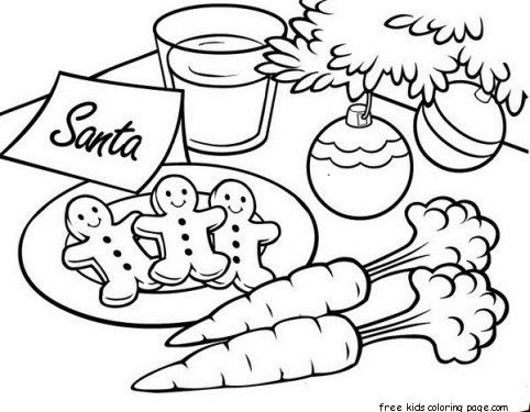 Gingerbread Cookies For Santa Christmas Coloring Santa Coloring