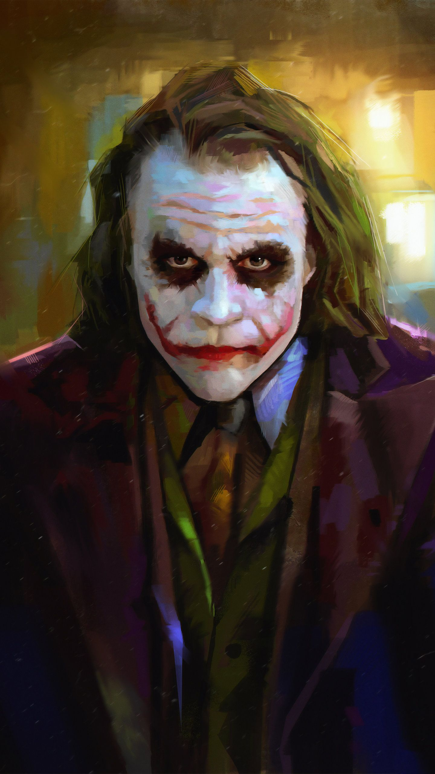 Heath Ledger As Joker 4k Hd Wallpaper 1440x2560 With Images