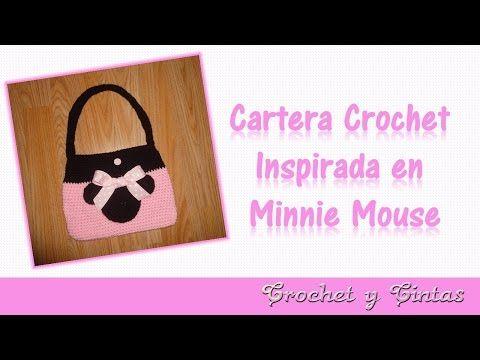 Cartera crochet (ganchillo) inspirada en Minnie Mouse – Parte 1 ...