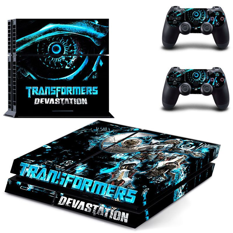 Transformers devastation new design skin decal for ps4 console and controllers by vitalyshvatrzman on etsy