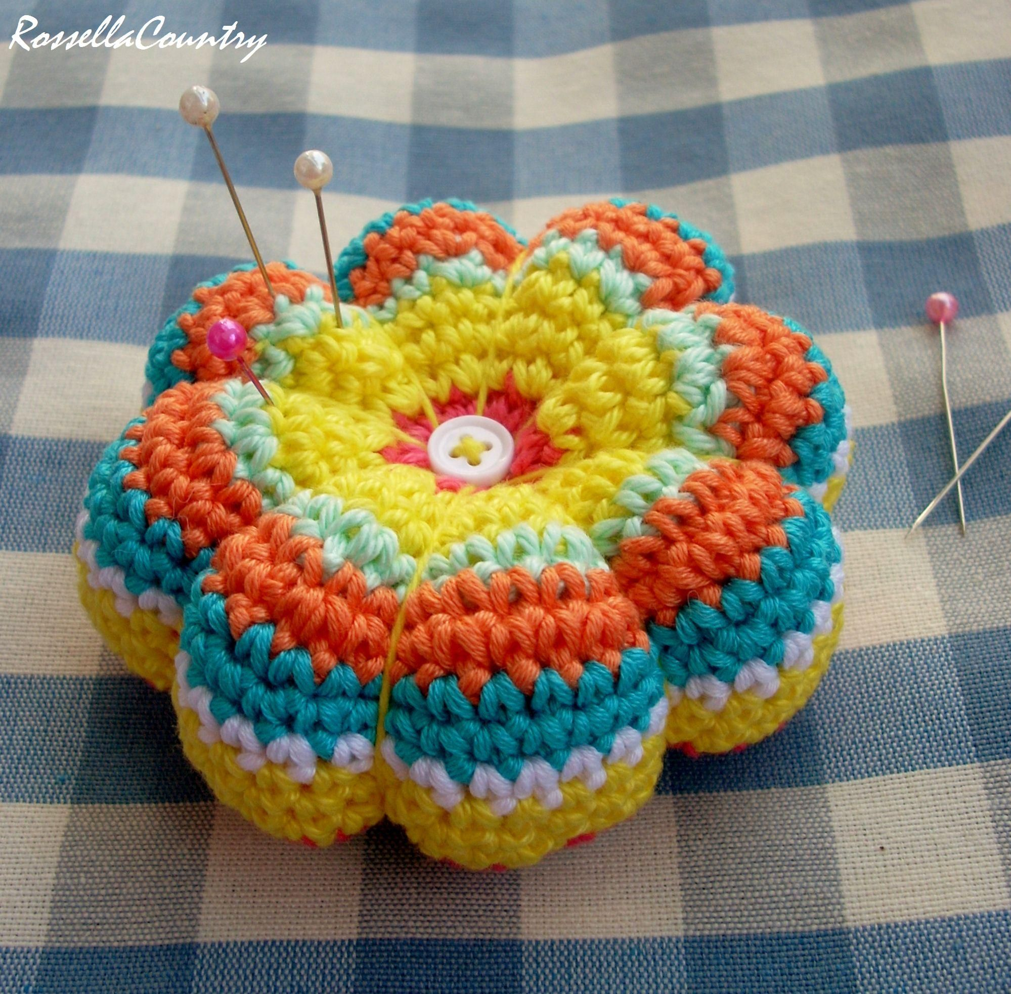 Pincushion crochet - tutorial - | tutorial | Pinterest