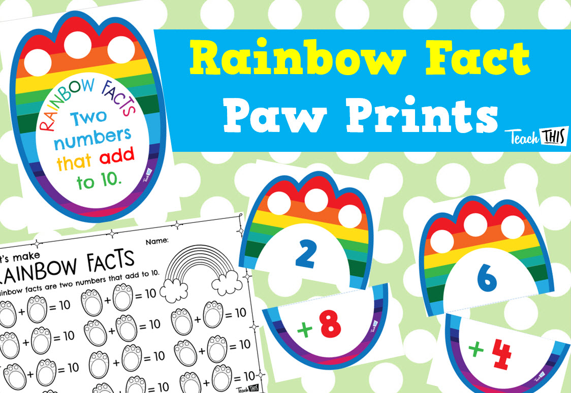 Rainbow Fact Paw Prints