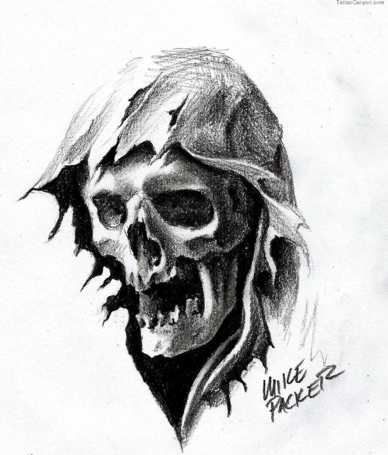 Grim Reaper Pencil Drawing Tattoos Pencil Drawings Grim Reaper