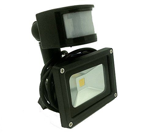 Lenbo 12v Acdc 10w Pir Led Flood Light Cold White Floodlight 6000k Motion Sensor Black Case With 1m Wire Without Plug L Led Flood Lights Flood Lights Led Flood