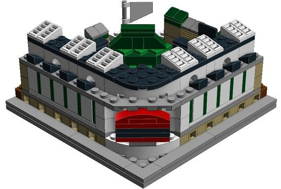 Mini Chicago Cubs Wrigley Field Custom Brick Set by BLOCKStadiums     Mini Chicago Cubs Wrigley Field Custom Brick Set by BLOCKStadiums