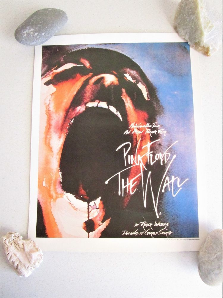Vintage Pink Floyd The Wall Screaming Face Art Print Small Poster Rocky Arte
