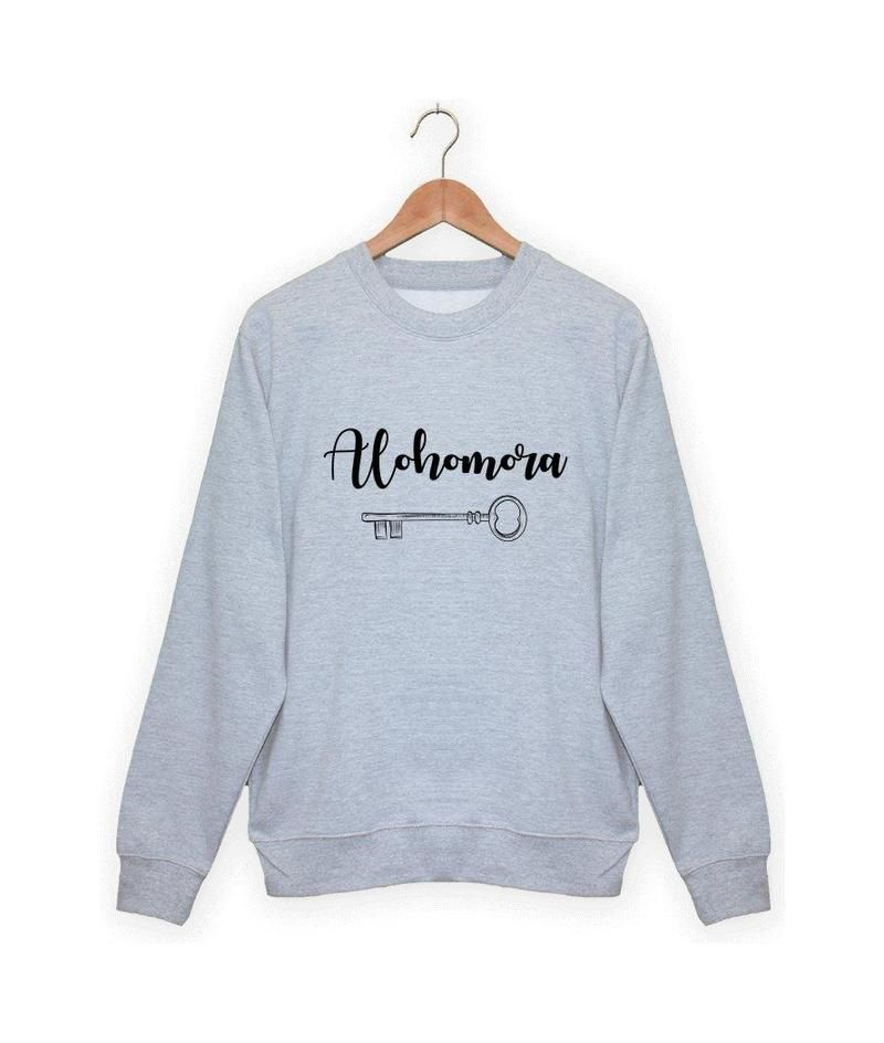 Sweatshirt Harry Potter Alohomora Vetements Harry Potter Vetements Cool Vetements Droles