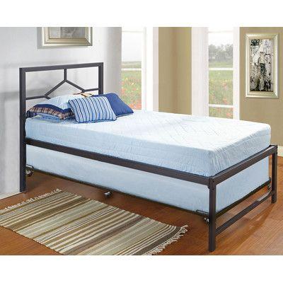 Inroom Designs Hi Riser Twin Platform Bed With Pop Up Finish Black