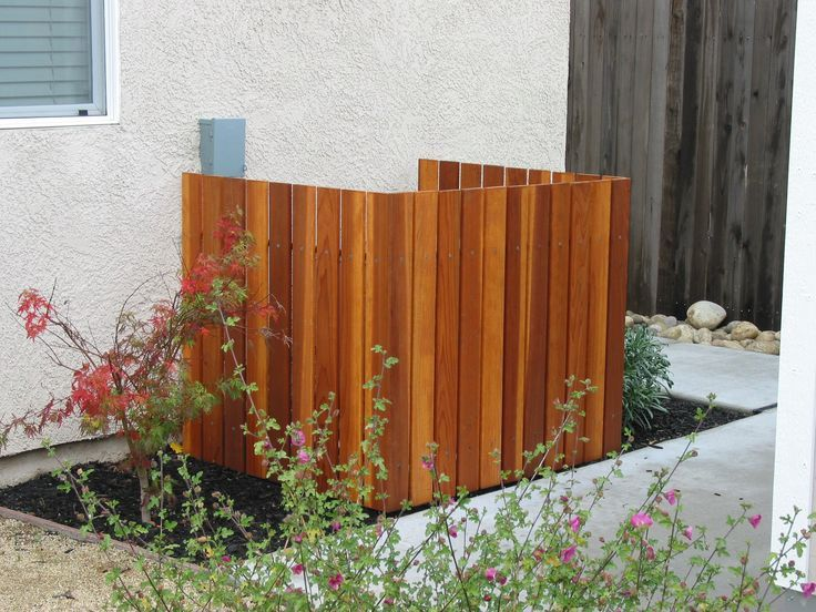 How to hide an a c unit hide air conditioner unit outside backyard landscaping pinterest - Garden ideas to hide fence ...