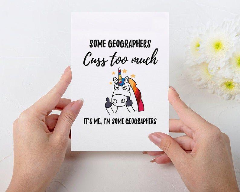 Geography Card Geography Birthday Card Geography Gift Etsy Grandma Birthday Card Birthday Cards Unicorn Birthday Cards