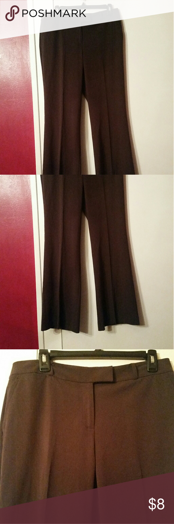 Nyuco dress pant dress pants dark brown and size