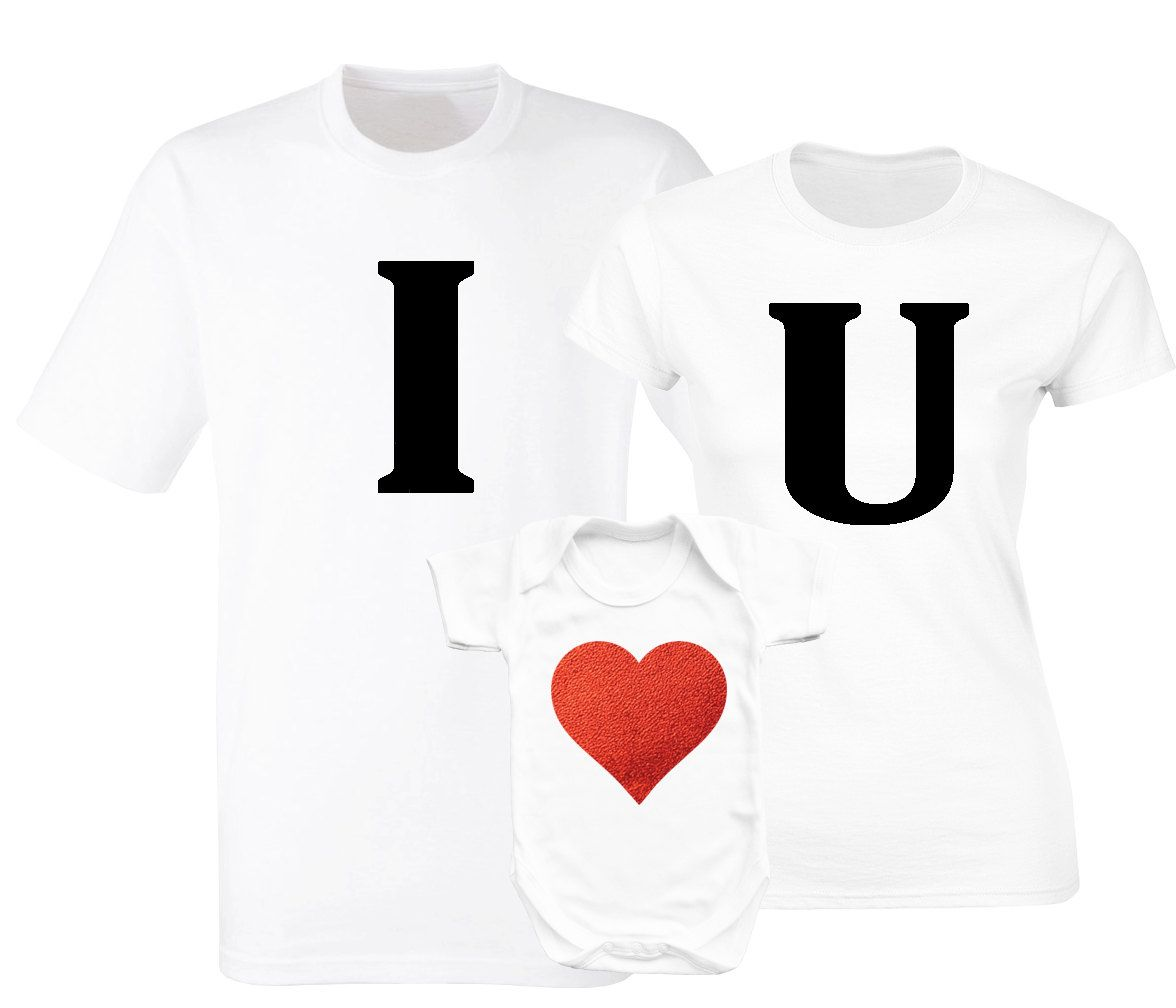 Valentine S Day Family Matching White T Shirts And Baby Grow Set By