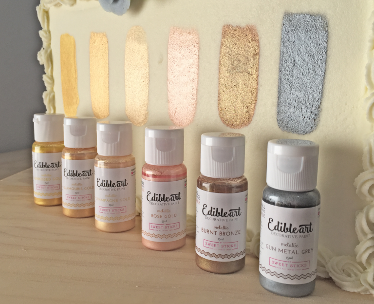 Product Review: Metallic Edible Art Paints by Sweet Sticks - Viva La Buttercream