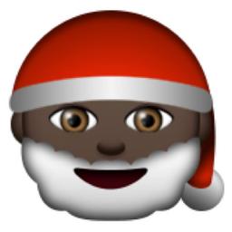 Black Father Christmas Emoji U 1f385 U 1f3ff Emoji Black Fathers Smiley Emoji