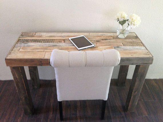 Reclaimed Wood Desk Modern Rustic Work Table Laptop