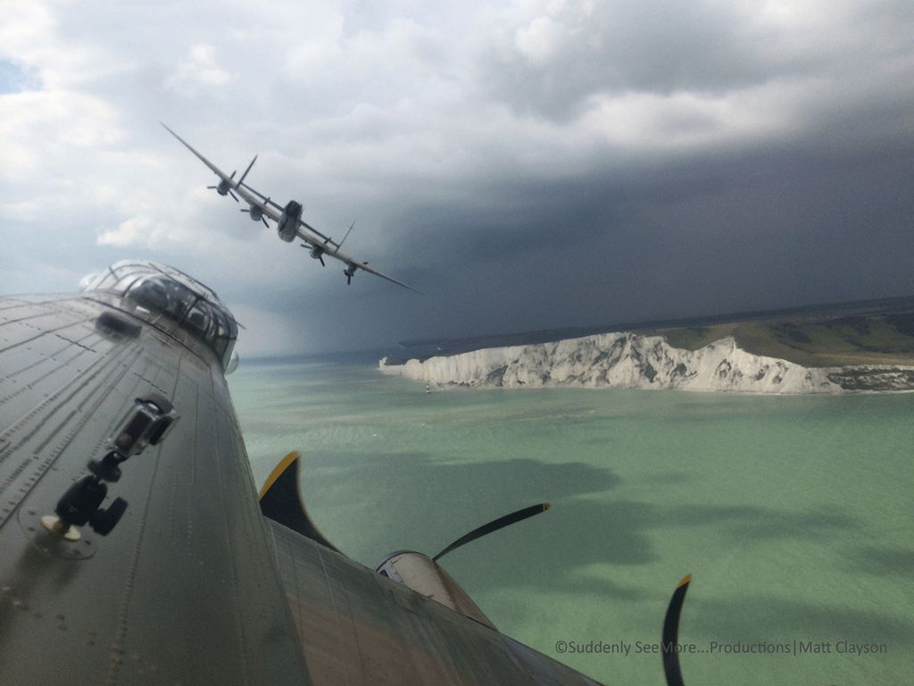 Lancaster bombers.