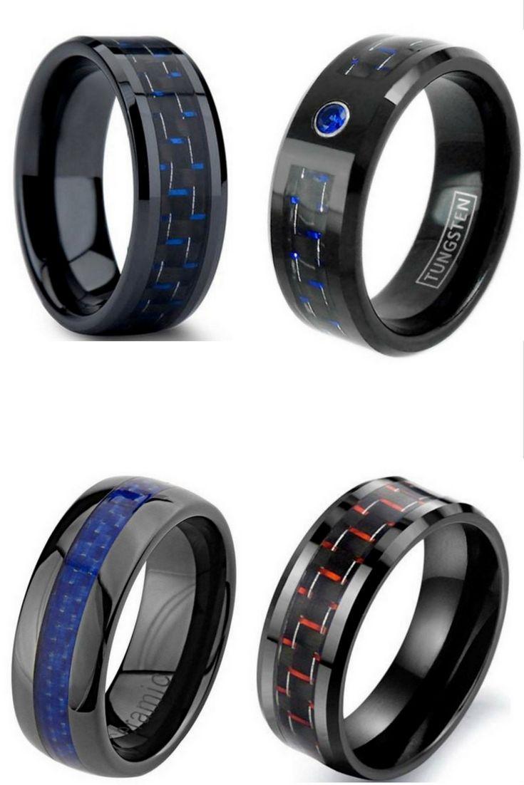 Amazing mens carbon fiber rings these carbon fiber rings