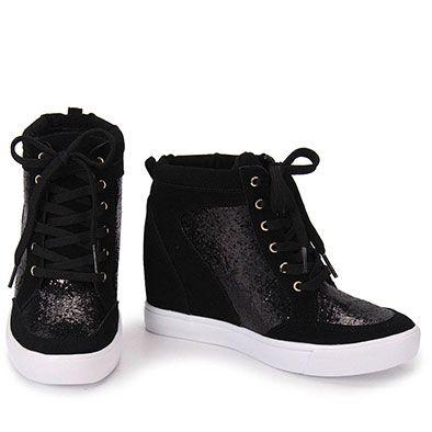 9f0d6dc52 Tênis Sneaker Feminino Via Marte - Preto | raniela em 2019 | Shoes ...