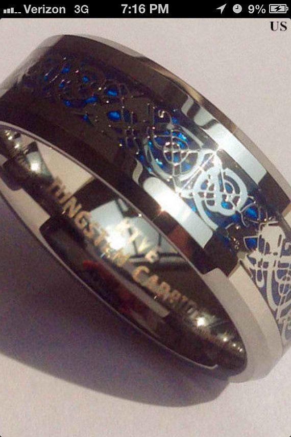 Tungsten Wedding Band It Is 8mm Celtic Dragon Mens