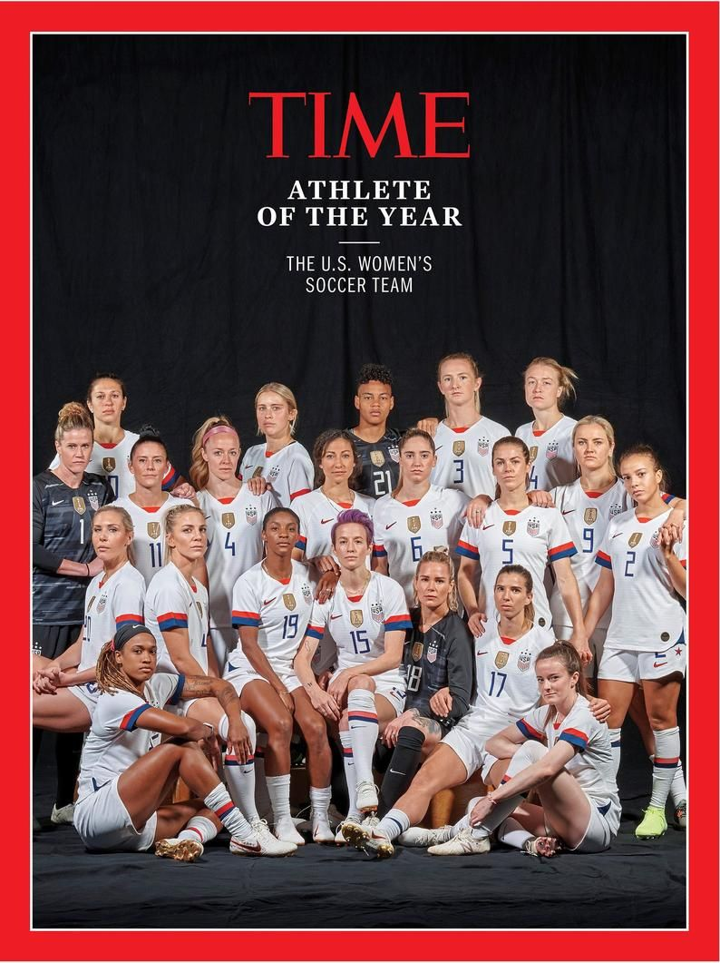 U S Womens Soccer Team Is Time S 2019 Athlete Of Year Etsy In 2020 Us Women S National Soccer Team Usa Soccer Women Womens Soccer