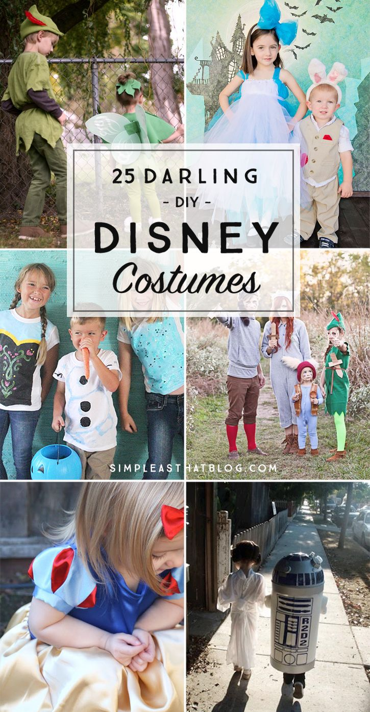 25 darling diy disney costumes | bloggers' fun family projects