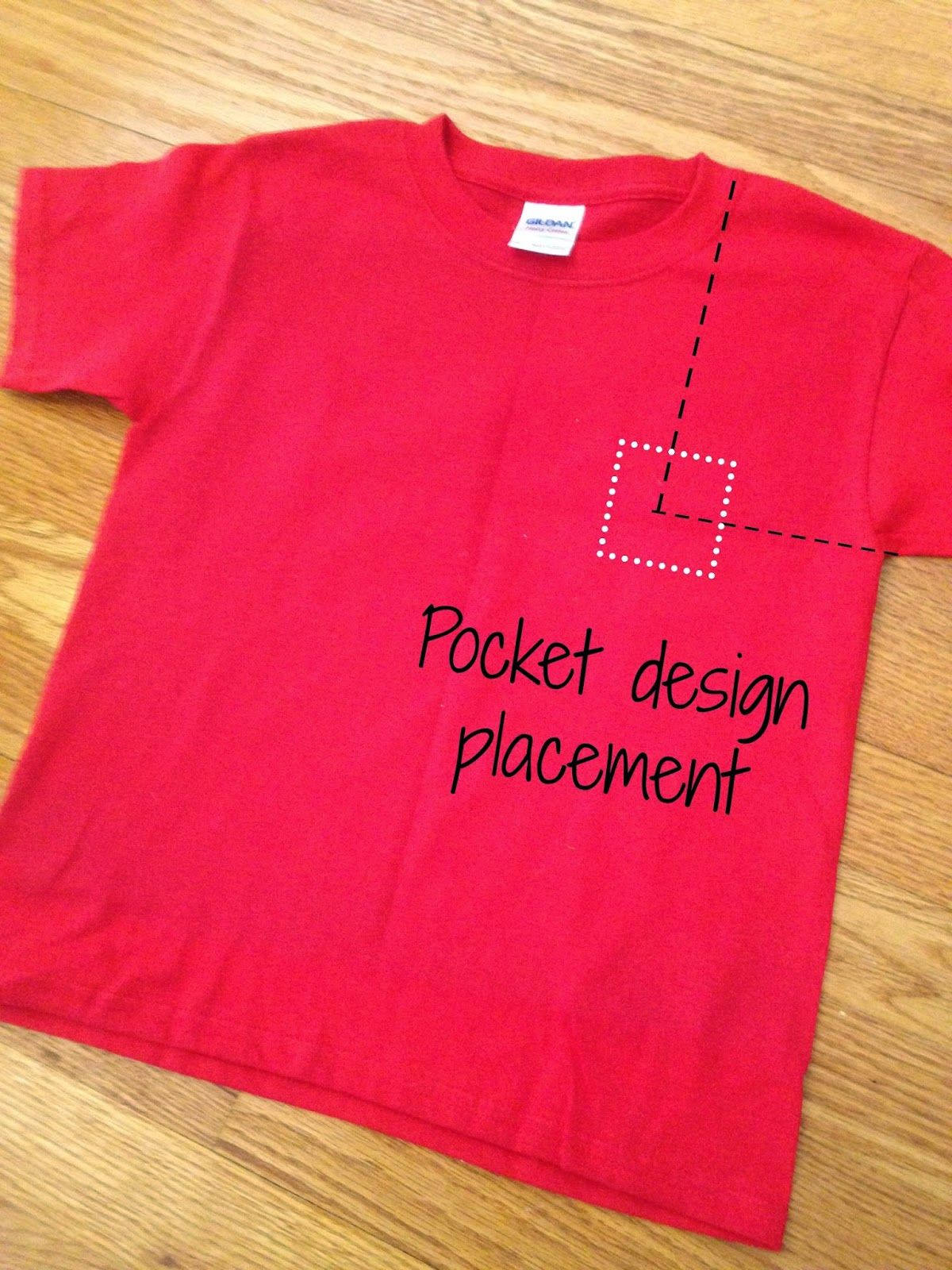 HTV Shirt Decal Placement and Size Tips and Resources