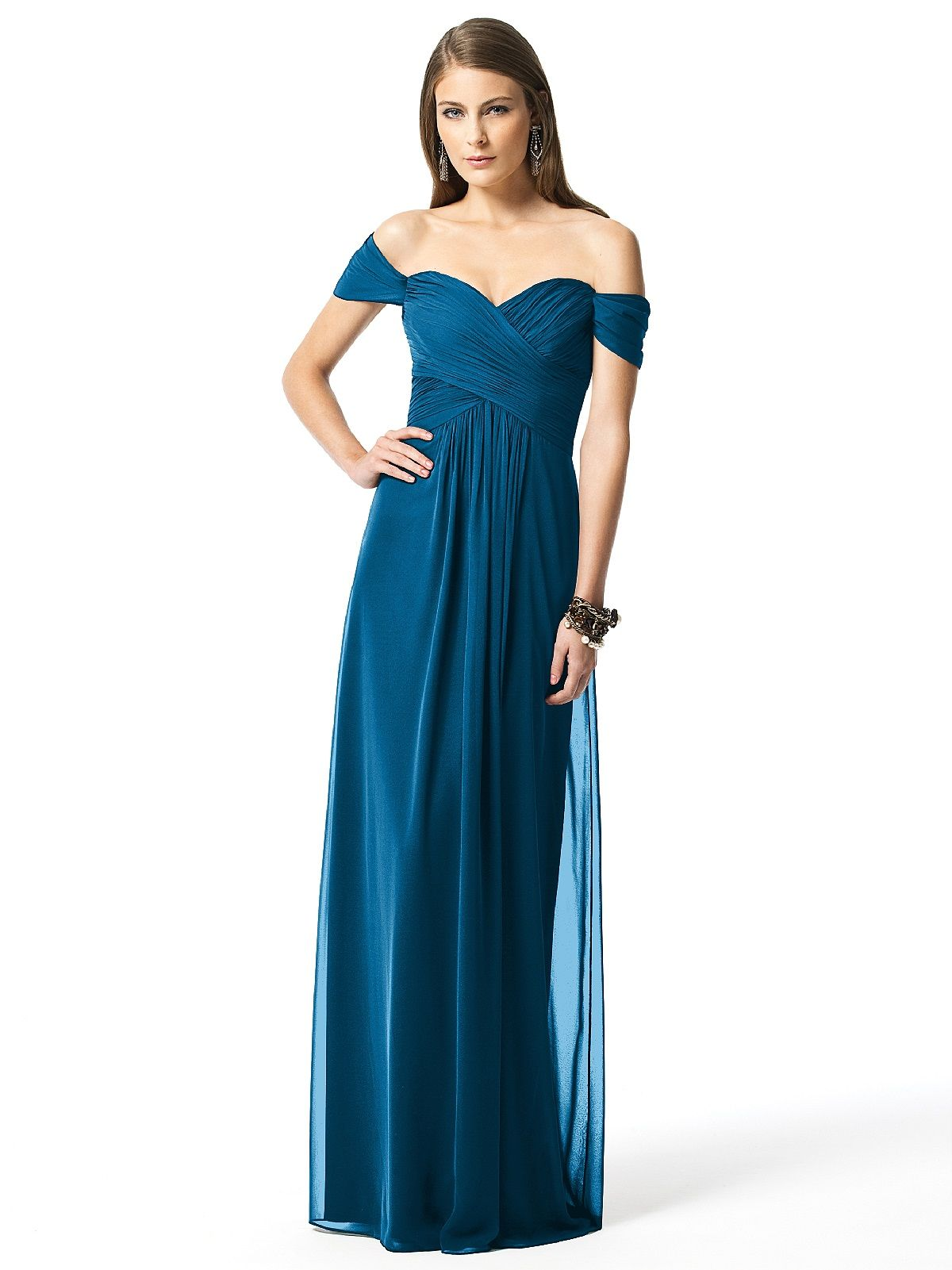 Dessy collection style chiffon bridesmaid dresses bodice and
