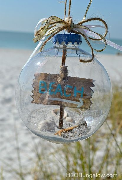 how to make a beach themed christmas ornament christmas decorations crafts seasonal holiday decor - Beach Christmas Decorations