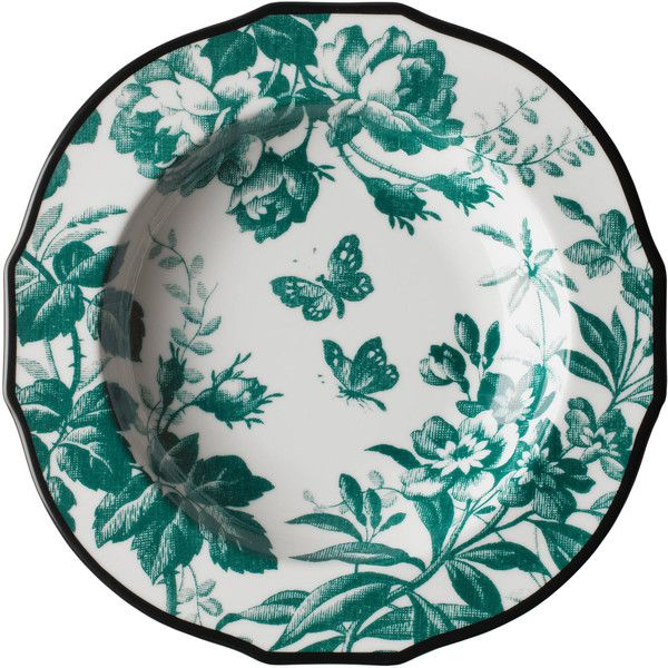 Dinnerware  sc 1 st  Pinterest & Gucci Herbarium Rim Soup Bowl Set Of Two (u20ac175) ? liked on ...