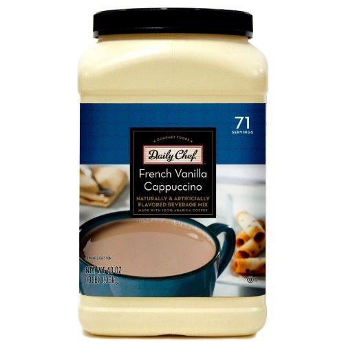 Daily Chef Instant Cappuccino French Vanilla 48 Oz Jet Com French Vanilla Cappuccino French Vanilla Cappuccino