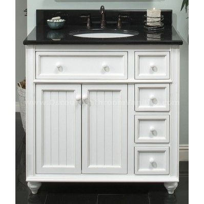 "Sage Hill Designs Cottage Retreat 36"" Traditional Single Sink Bathroom Vanity CR3621D at DiscountBathroomVanities.com"