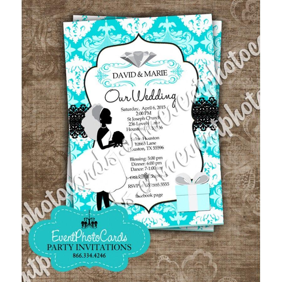 Tiffany Wedding Damask Couture   Wedding Invitations   Pinterest ...